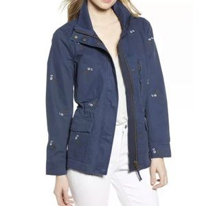 Madewell Embroidered Passage Military Jacket Coat